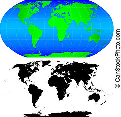 Shape of the world - Shape of the Earth continents. Detailed...