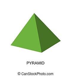 shape-pyramid, vecteur, 3d