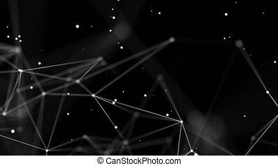shapes., concept., connexion, toile, géométrique, plexus, ...