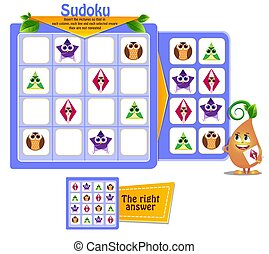 shapes game owl sudoku