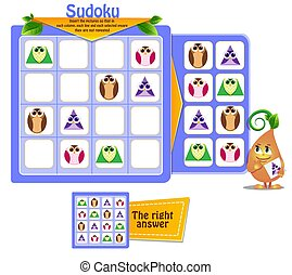 shapes game sudoku owl