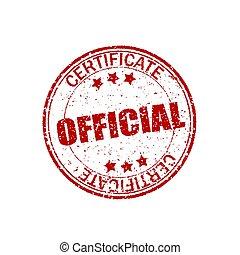 shapes., grunge, certificato., francobollo, vendemmia, ufficiale, effetto, elemento, gomma, fondo., bianco, retro, crepa, cerchio, sigillo, texture., rotondo, rosso