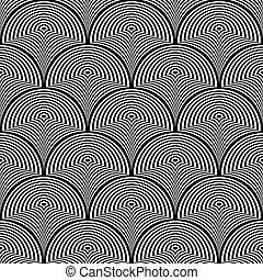 shapes., illustration, vektor, svart, skev, vit