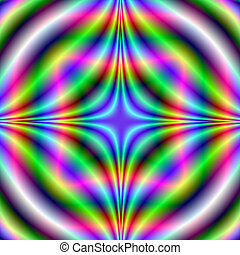 Shapes in Neon Colors - Digital abstract fractal image with ...