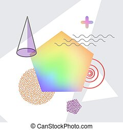 Shapes Making Up Abstraction Vector Illustration