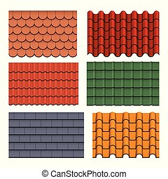 Shapes or profiles of roof tiles