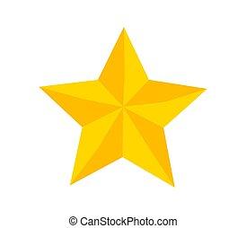 shapes., symbole, triangle, noël, étoile, polygonal, jaune