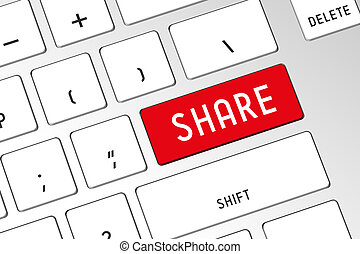 Share - 3D computer keyboard