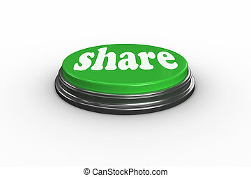 Share against digitally generated green push button