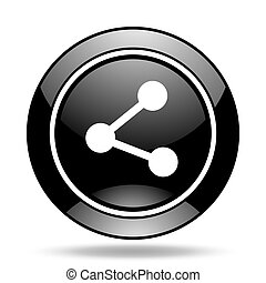 share black glossy icon