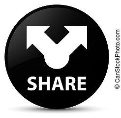 Share black round button