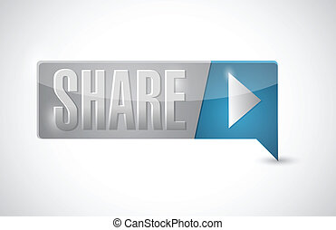 share button illustration design
