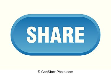 share button. share rounded blue sign. share