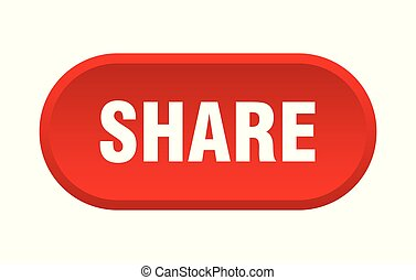 share button. share rounded red sign. share