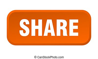 share button. share square 3d push button