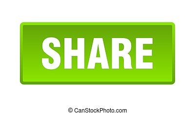 share button. share square green push button