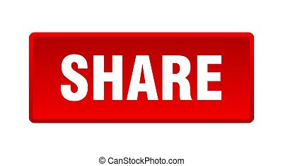 share button. share square red push button
