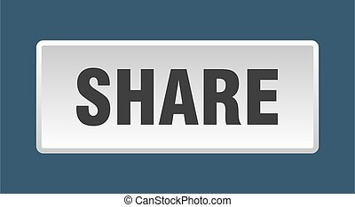 share button. share square white push button