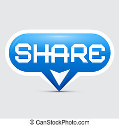 Share Button Vector Illustration