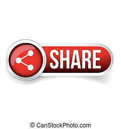 Share button vector red