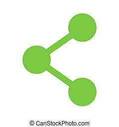 Share click button internet icon isolated. Vector illustration banner