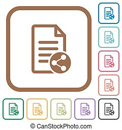 Share document simple icons