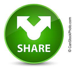Share elegant green round button