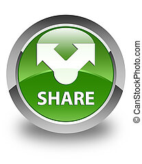 Share glossy soft green round button