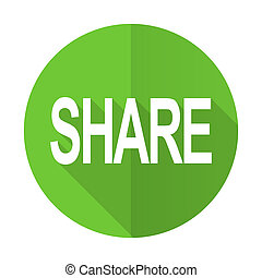share green flat icon