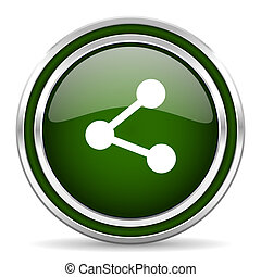 share green glossy web icon