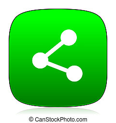 share green icon for web and mobile app