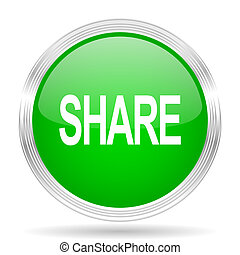 share green modern design web glossy icon