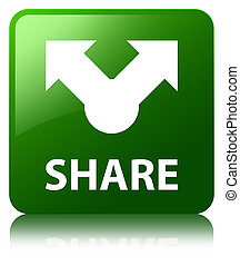 Share green square button
