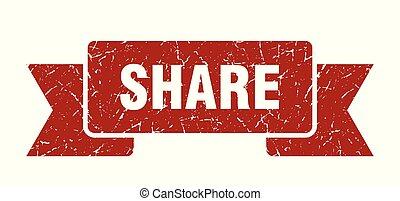 share grunge ribbon. share sign. share banner