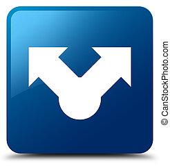 Share icon blue square button