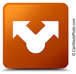 Share icon brown square button