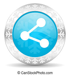 share icon, christmas button