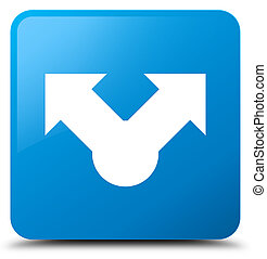 Share icon cyan blue square button