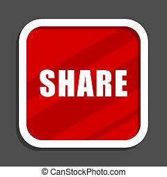 Share icon. Flat design square internet banner.