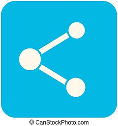 Share icon (flat design with long shadows)
