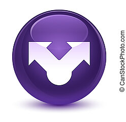 Share icon glassy purple round button