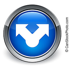Share icon glossy blue button