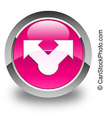 Share icon glossy pink round button