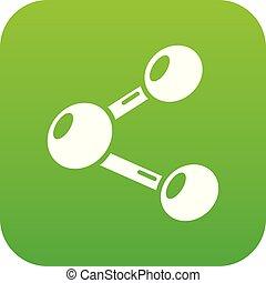Share icon green vector