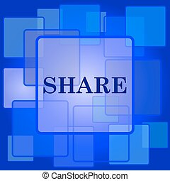 Share icon. Internet button on abstract background.
