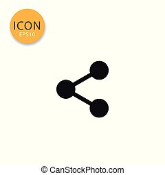 Share icon isolated flat style.