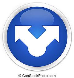 Share icon premium blue round button