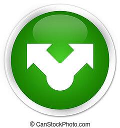 Share icon premium green round button
