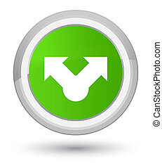 Share icon prime soft green round button