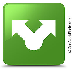 Share icon soft green square button